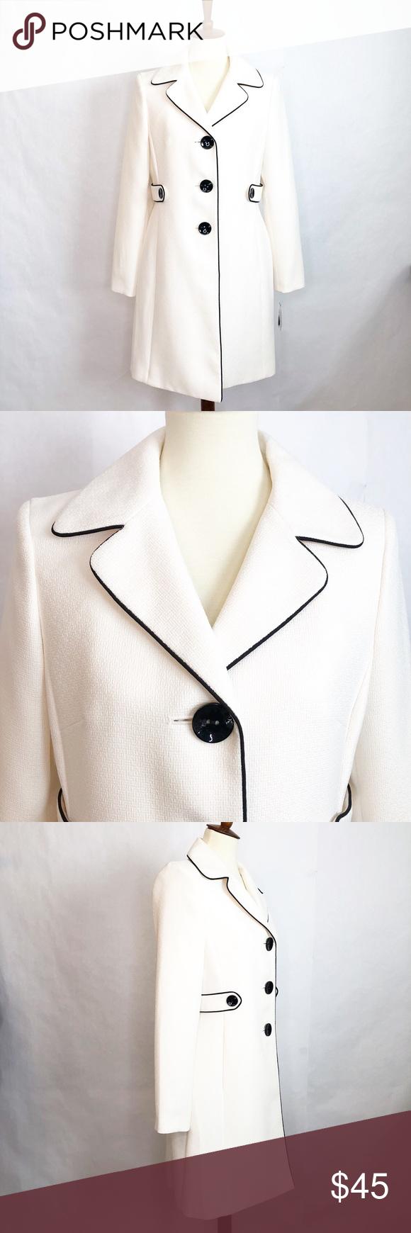 Kasper Separates Winter White Dress Coat Sz 8 Nwt Coat Dress White Dress Winter Coat [ 1740 x 580 Pixel ]