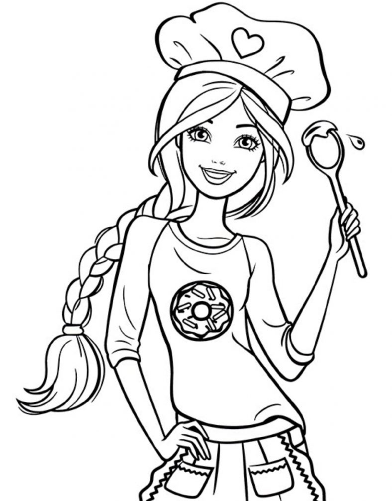 Barbie Coloring Pages Princess Collection