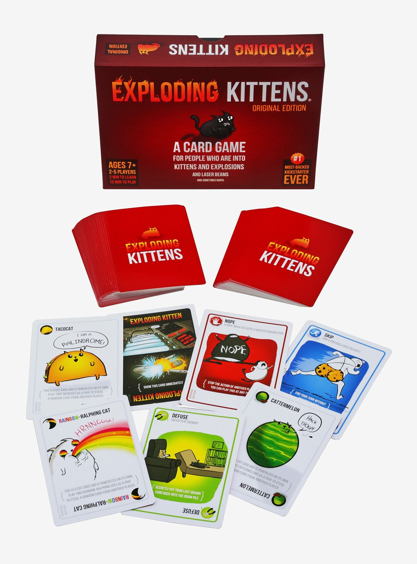 Exploding Kittens Card Game Family Friendly Party Game For 2 5 Players For Kids Super Heroe Heroe S A