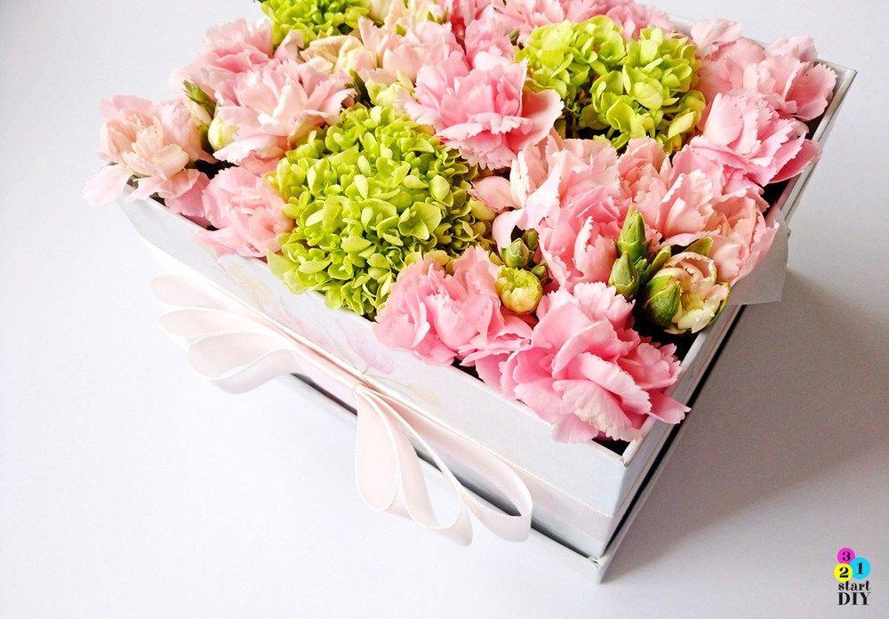 Flower Box Diy Czyli Jak Zrobic Kwiaty W Pudelku Flower Boxes Floral Wreath Diy Box