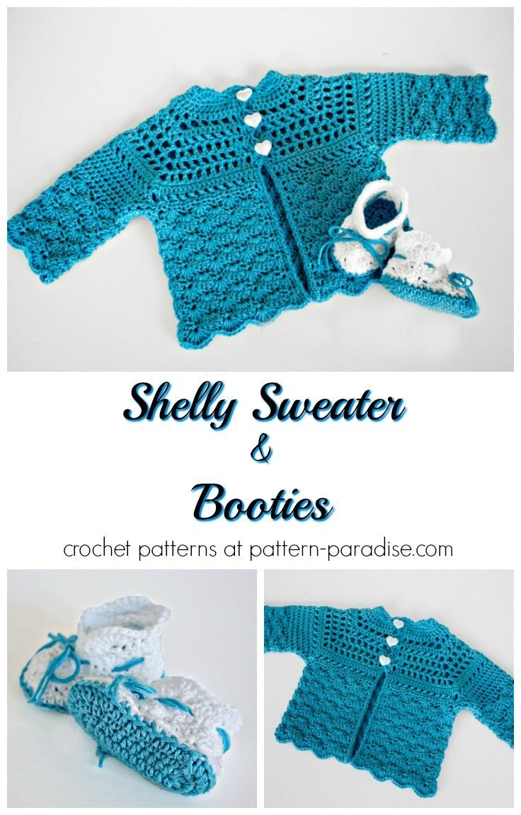 Shelly Sweater and Booties 12-107 pattern by Maria Bittner | Moogly ...
