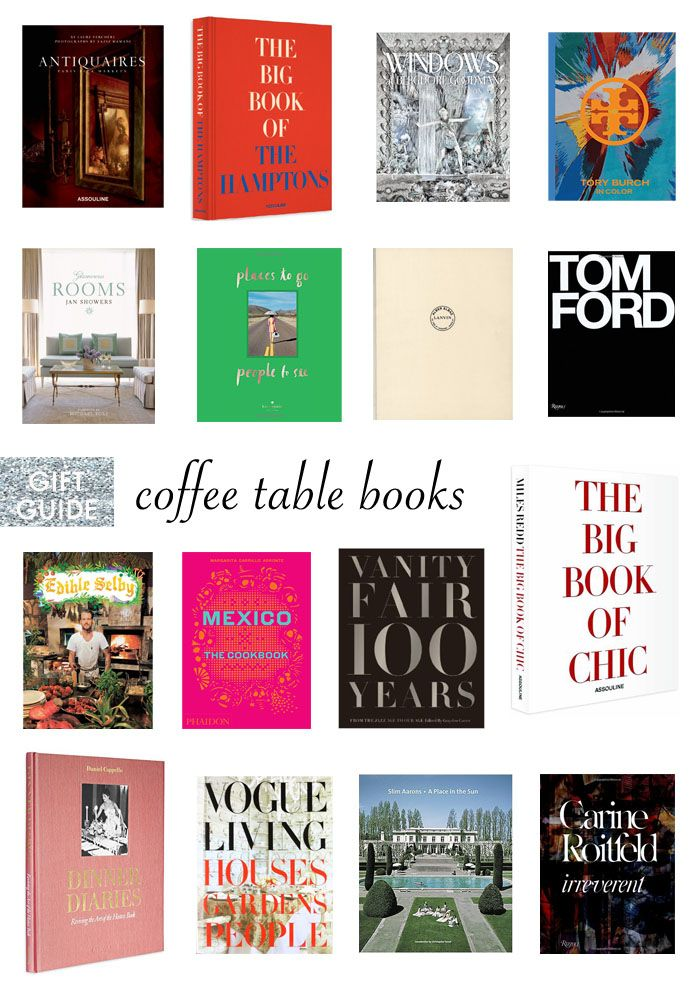 A Complete Guide To The Best Coffee Table Books For Your
