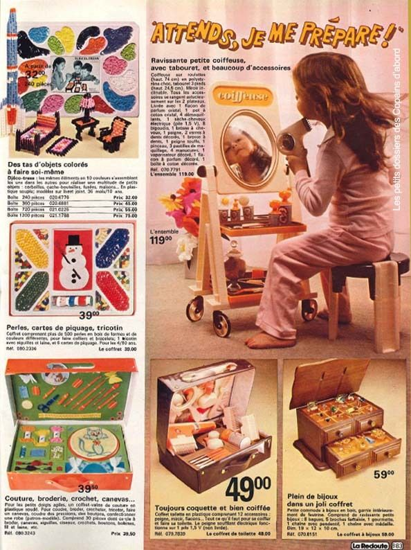 les jouets du catalogue la redoute 1979 80 d antan. Black Bedroom Furniture Sets. Home Design Ideas