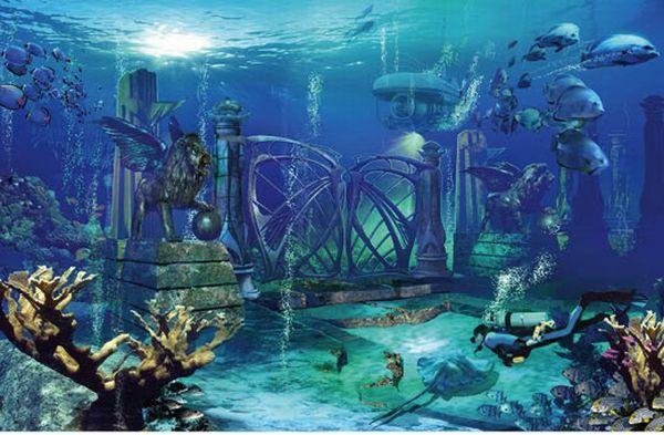 Lost City Of Atlantis Lost City Of Atlantis Underwater City Ancient Atlantis