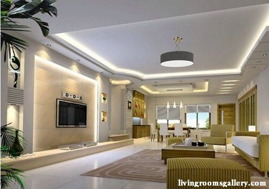 25 Pop False Ceiling Designs With Led Ceiling Lighting Ideas Living Room Ceiling Living Room Lighting White Furniture Living Room