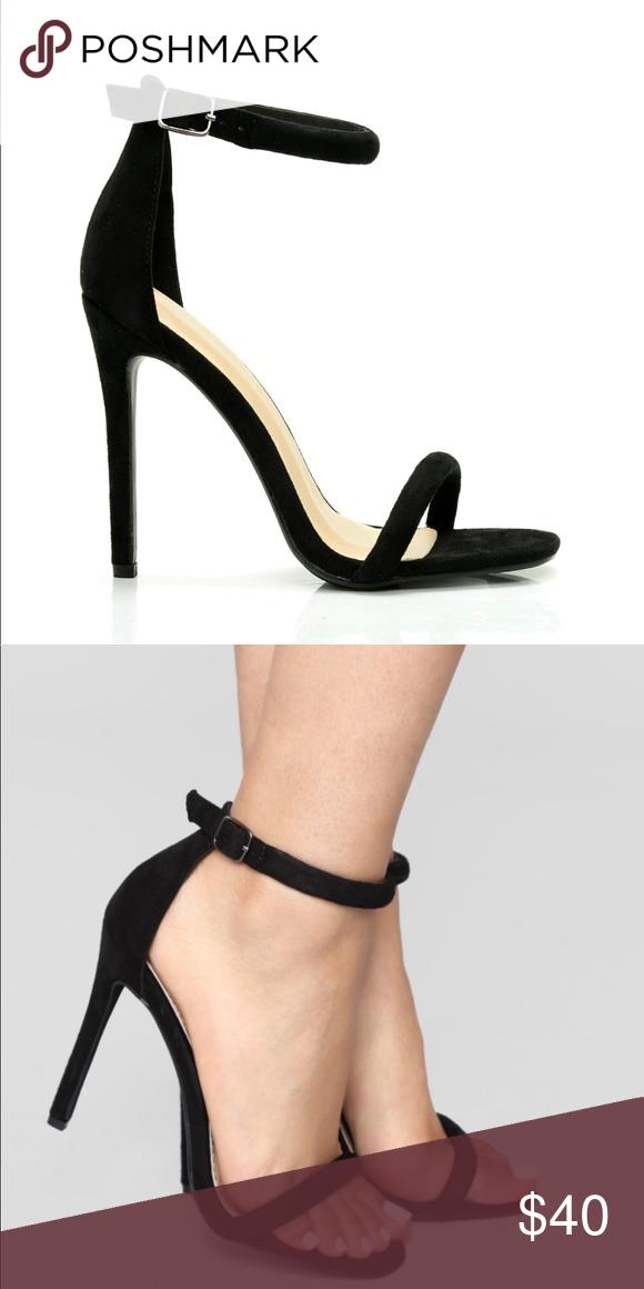 Black strappy heels, Stiletto heels