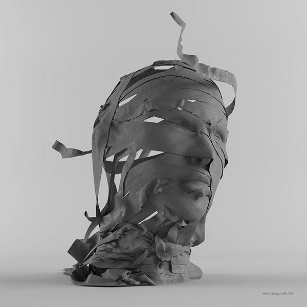 Clothing sculpture by  Janusz Jurek #digital #illustration