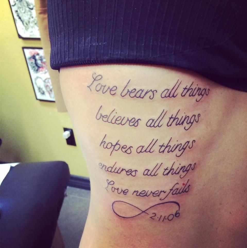 1 Corinthians 13 Tattoo