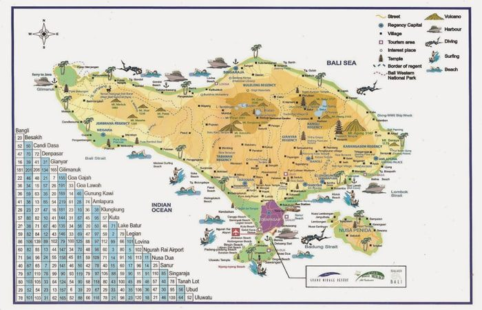 Informasi Tentang Peta Bali Lengkap Dengan Gambar Dan Penjelasannya Peta Bali Legian