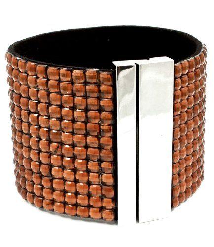 Copper Crystal Cuff Bracelet