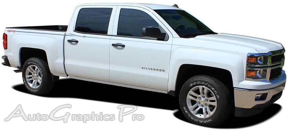 Chevy Silverado ELITE Truck Side Vinyl Graphics - Chevy decals for trucksmore decalchevrolet silverado rally edition unveiled