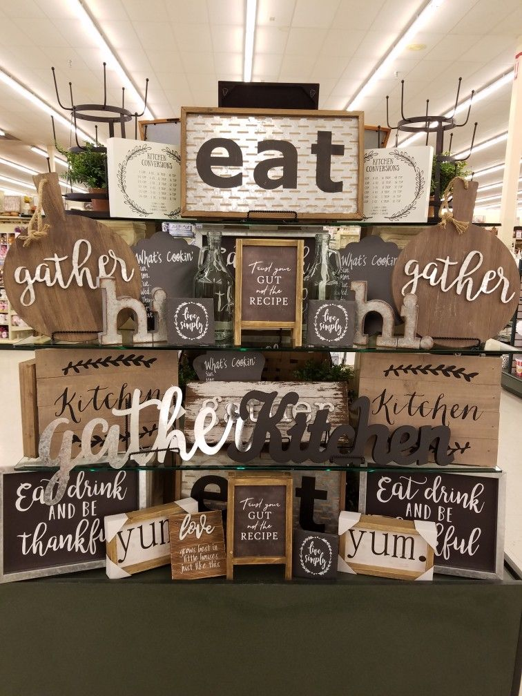 Hobby Lobby kitchen decor | Hobby Lobby Designers in 2019 ...