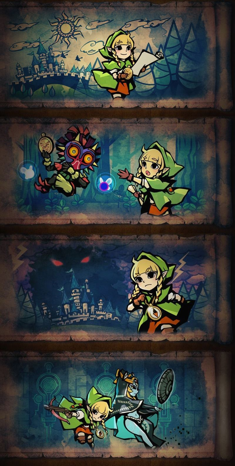 Linkle storyline intro in #HyruleWarriorsLegends #3DS and transferable in…