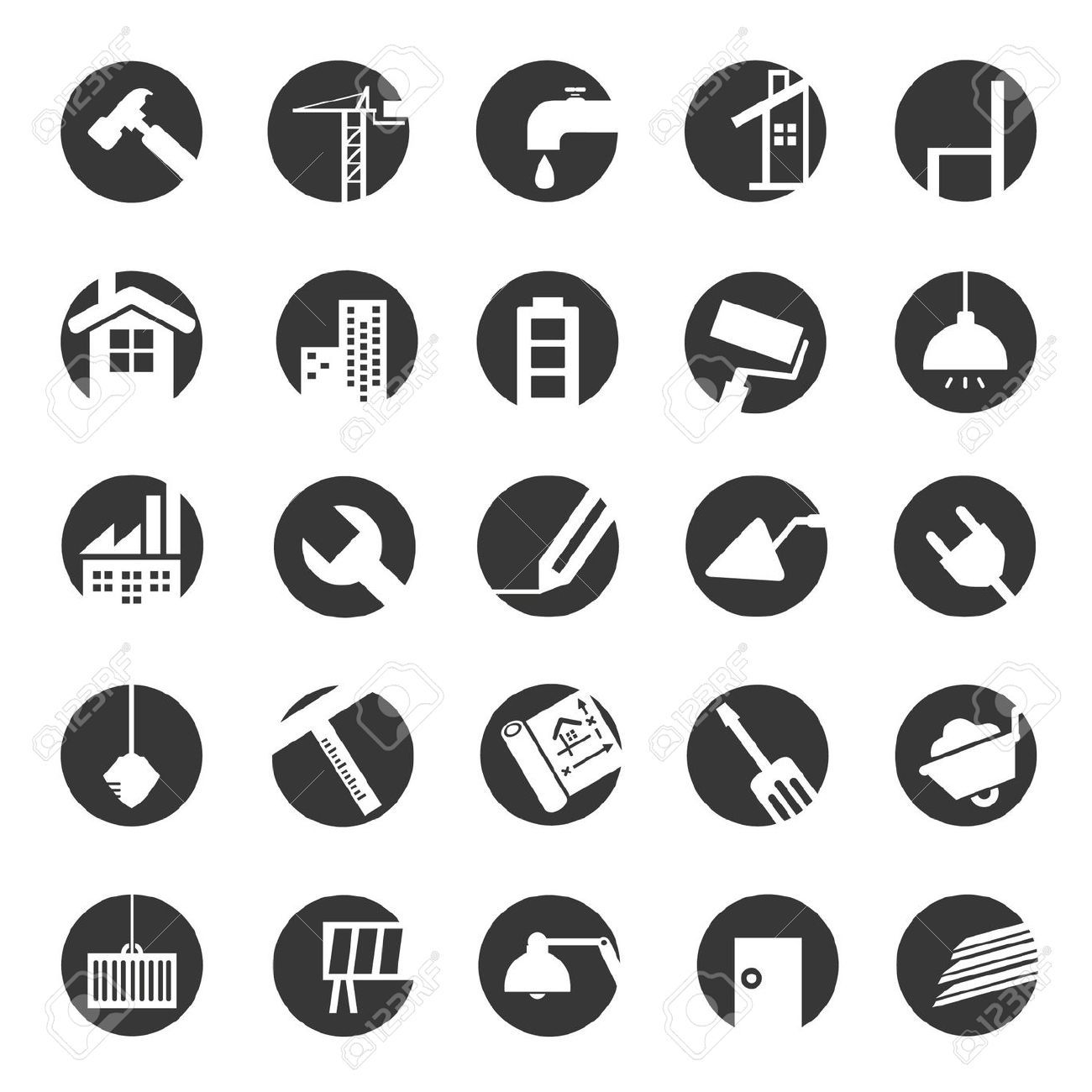 Engineering icons Construction images, Web icons, Letter
