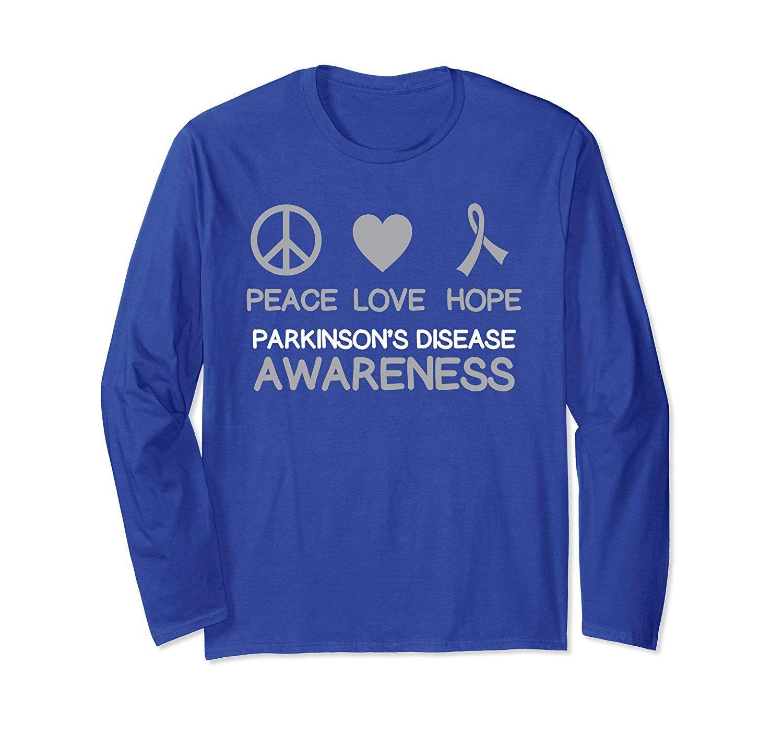 Parkinson S Disease Awareness Peace Love Hope T Shirt Th Long Sleeve Shirts T Shirt Long Sleeve