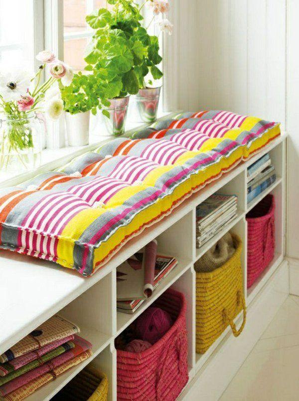 farbige sitzkissen n hen lustige dekoideen f r ihr haus einrichtung pinterest sitzkissen. Black Bedroom Furniture Sets. Home Design Ideas