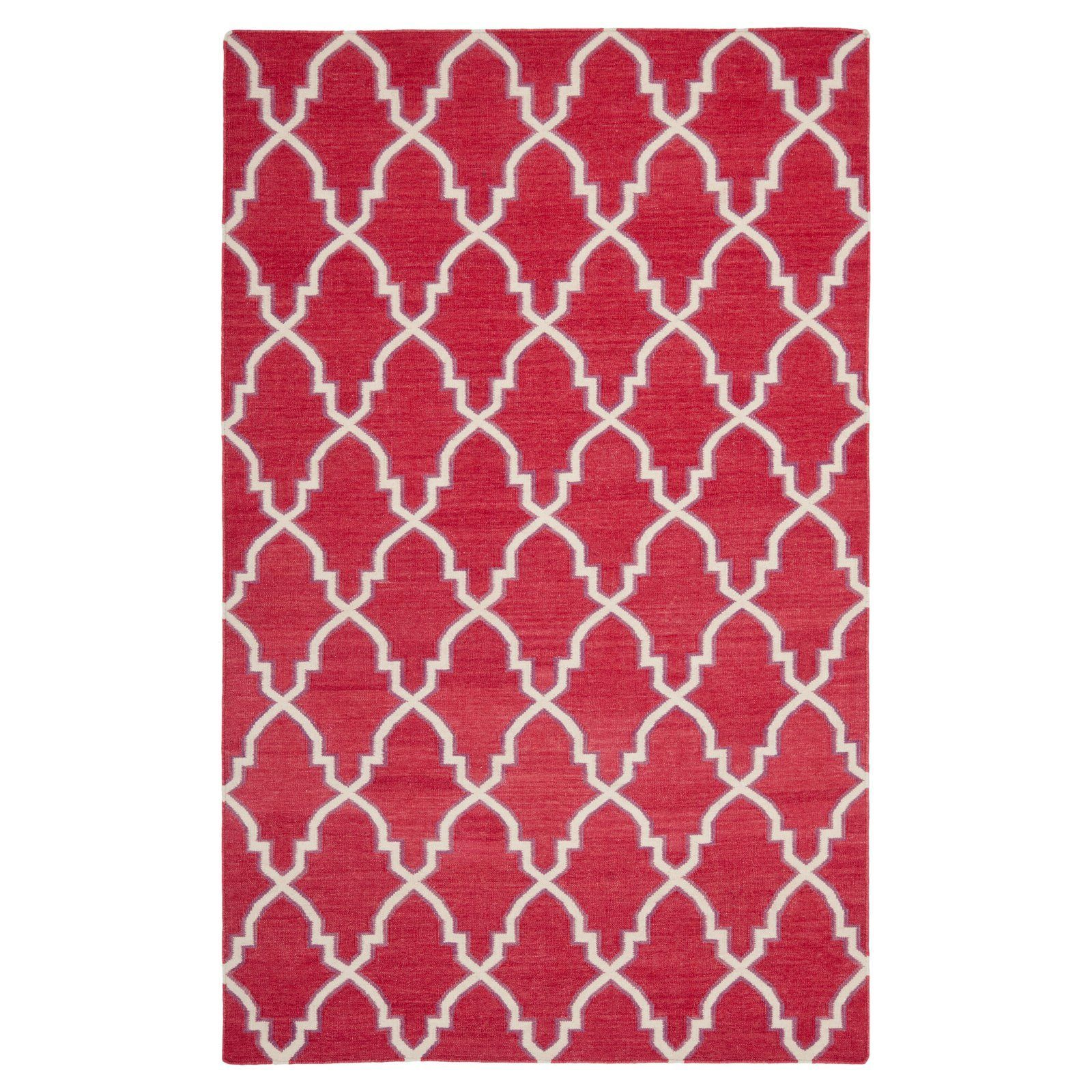 Safavieh Dhu564a Dhurries Teppich Hellblau Elfenbein Größe 5 X 8 Ft Products Area Rugs Red Wool Rug Southwestern Area Rugs