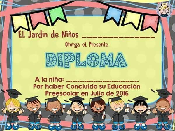 Diploma de niña