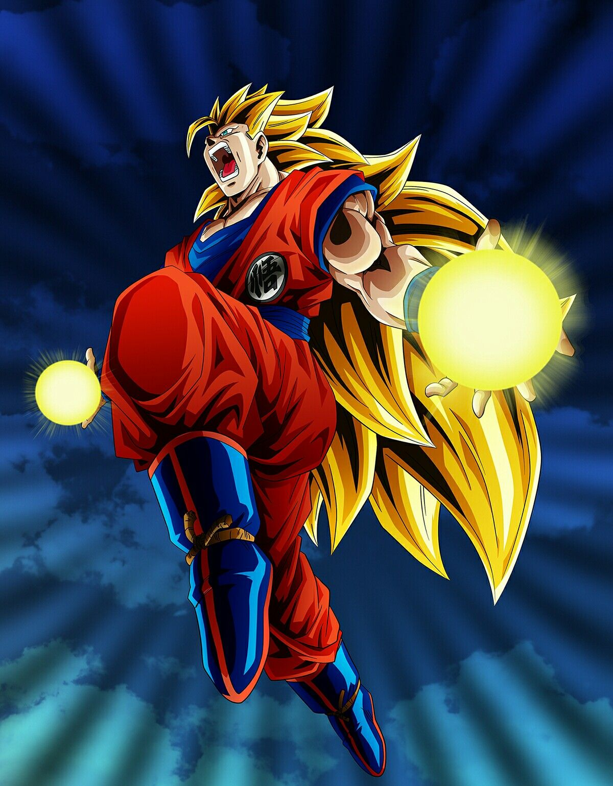 Goku Ssj 3 Universo 7 Dragon Ball Artwork Dragon Ball Art
