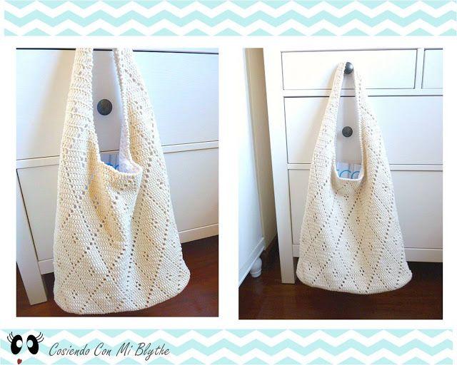 Patrón bolso de ganchillo de rombos | Crochet | Pinterest | Crochet