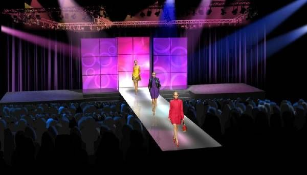 Sk fashion agency fashion show stage design - Fashion show stage design architecture plans ...