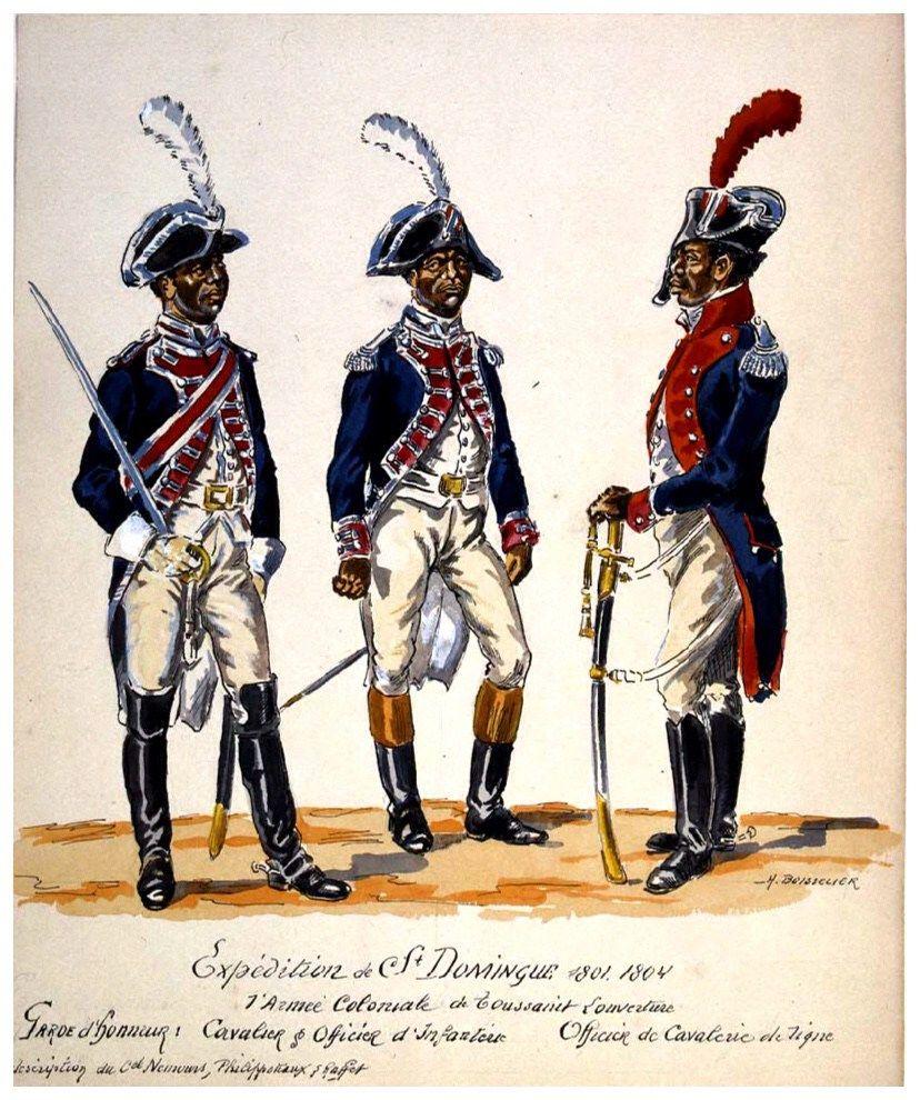 Vintage Haiti: Haitian Army c.1800 | Haiti history, African ...