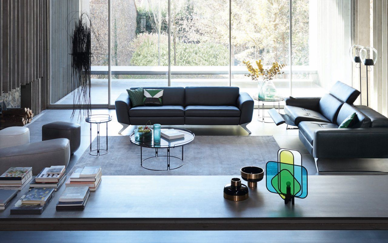 Frequence Leather Sofa Canape En Cuir Sacha Lakic Design For