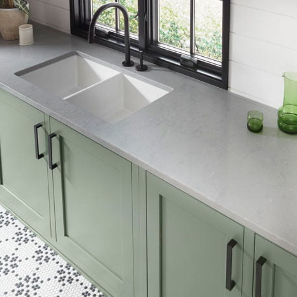 15 Stunning Gray Kitchens With Images: Upper Wolfjaw Is A Subtle Tone On Tone Design With Grey