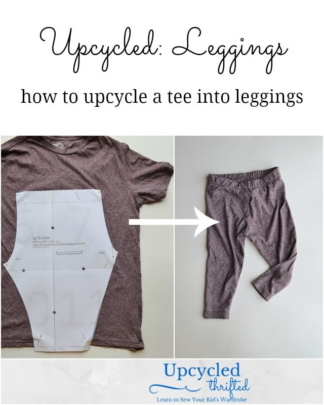 How to Upcycle a T-Shirt into Leggings • Heather Handmade 1