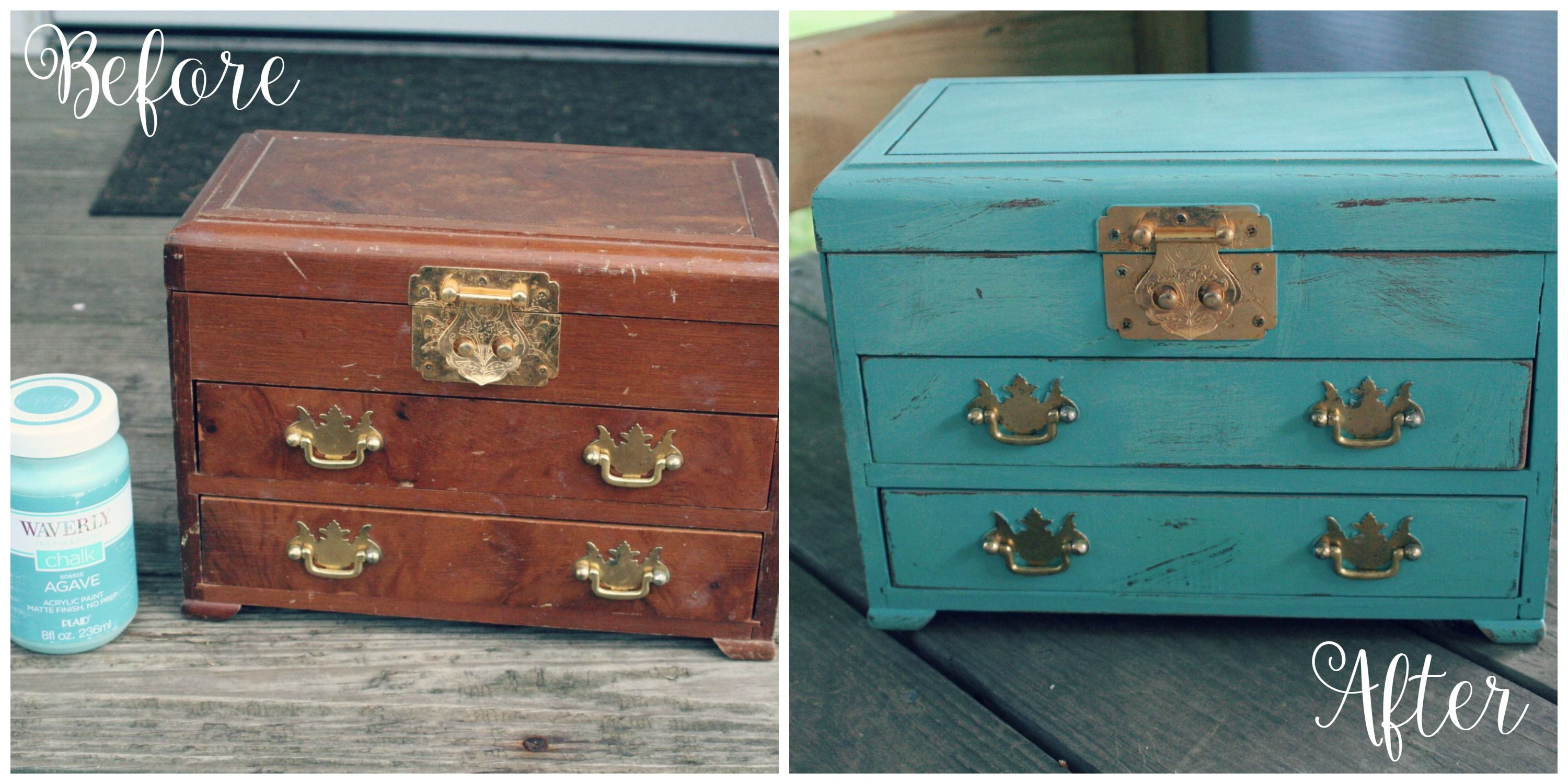 Altered Jewelry Chest