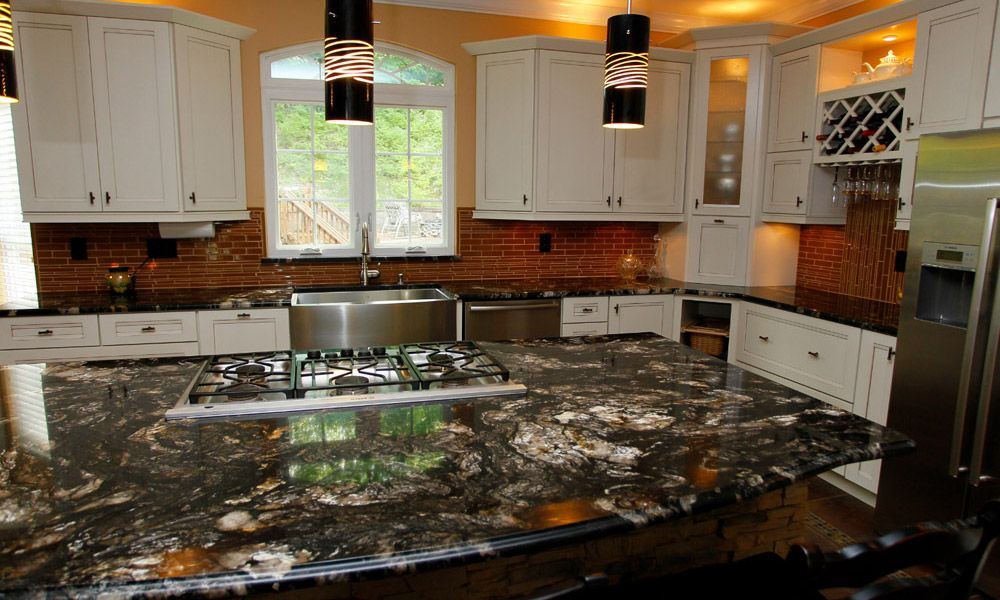 Titanium Granite With White Cabinets   Arch City Granite Has Installed Many  Custom Granite, Marble, And Quartz Countertops In And Around St. Louis, ...