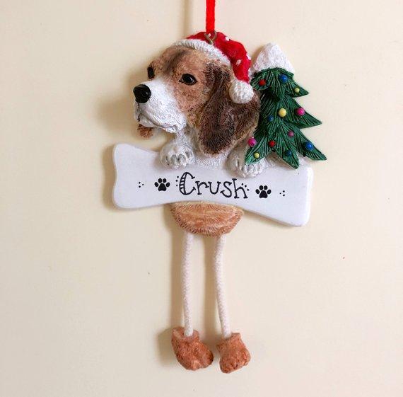 Beagle Christmas Dog Art Ornament Zazzle Com Dog Art Beagle