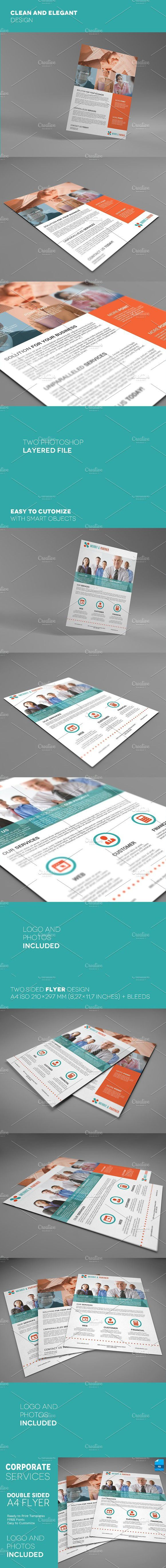 A4 Double Sided Corporate Flyer