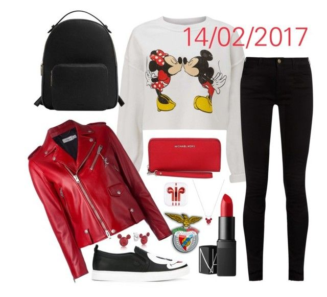 """14/02/2017"" by apcquintela ❤ liked on Polyvore featuring Miss Selfridge, Moa', Coach, Gucci, MANGO, NARS Cosmetics, MICHAEL Michael Kors and Disney"