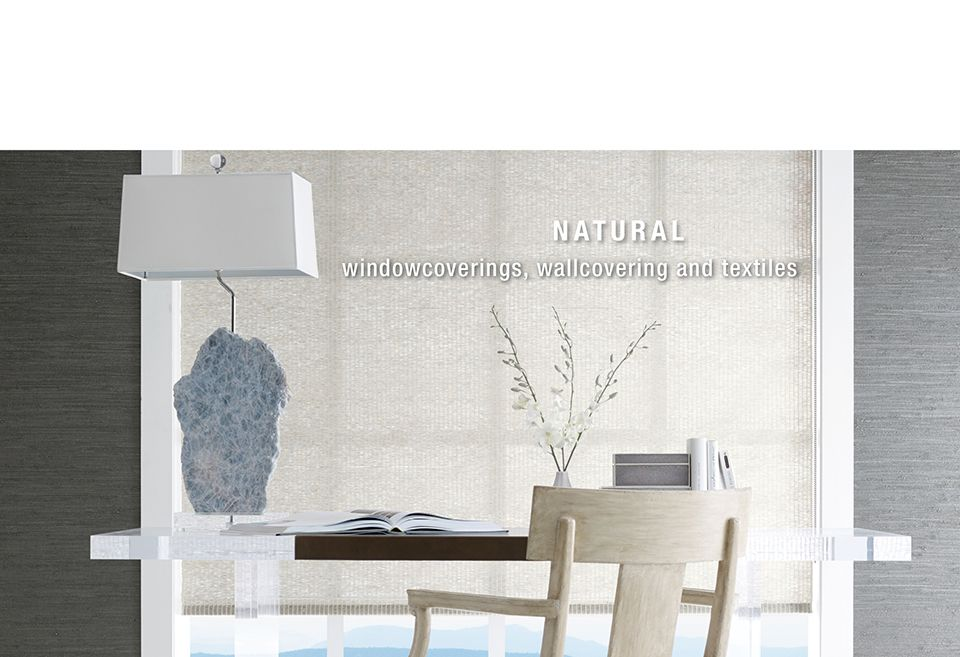 Natural windowcoverings, wallcoverings, and textiles