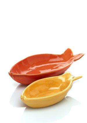 EIGEN ARTS Set of 2 Fish Plates