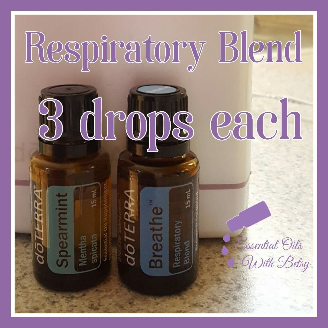 Doterra Respiratory Diffuser Blend 3 Drops Each Spearmint And