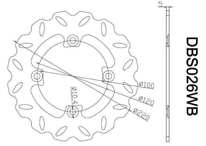 Rear Brake Disc Rotors Kawasaki ZX6R ZX600 P7F/P8F (07-08