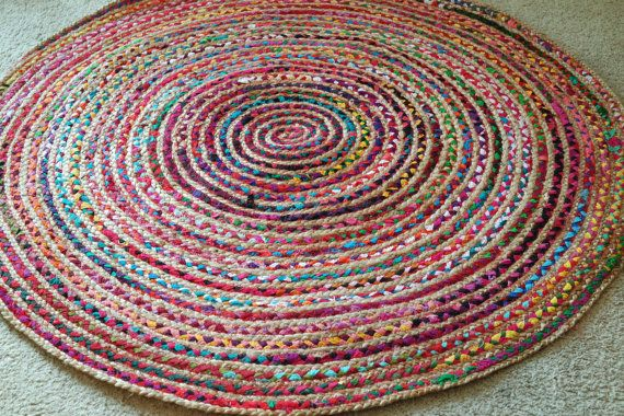 round rag rug boho chic hippie area rug 4 by yourgreateststory rugs floor rugs area rugs on boho chic kitchen rugs id=16763
