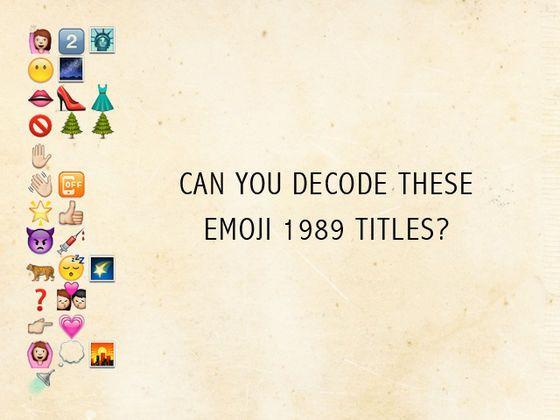 Can You Decode These Emoji 1989 Titles Take The Quiz Emoji Quiz Emoji Quiz