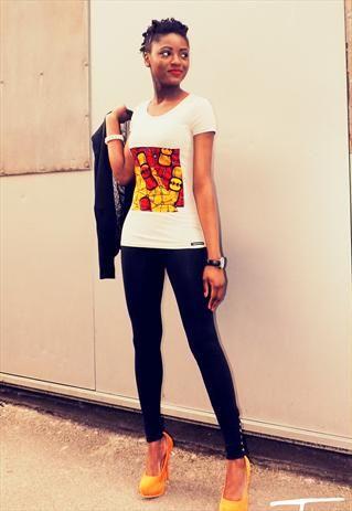 e5a1370ae AFRICAN PRINT T-SHIRT | Women's Fashion that I love | African attire ...