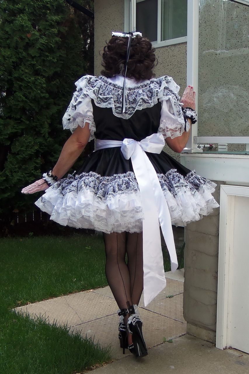 7098515371  B14 ADULT SISSY FRENCH MAID DRESS purchased from Barbara Tam via BBTSissy  Closet