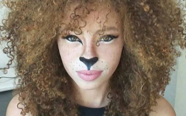 Diy Lion Costume Lion Makeup Halloween Lioness Makeup