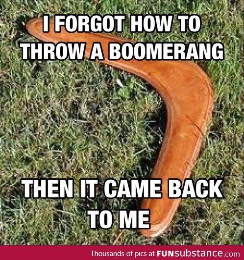Boomerang pun - FunSubstance