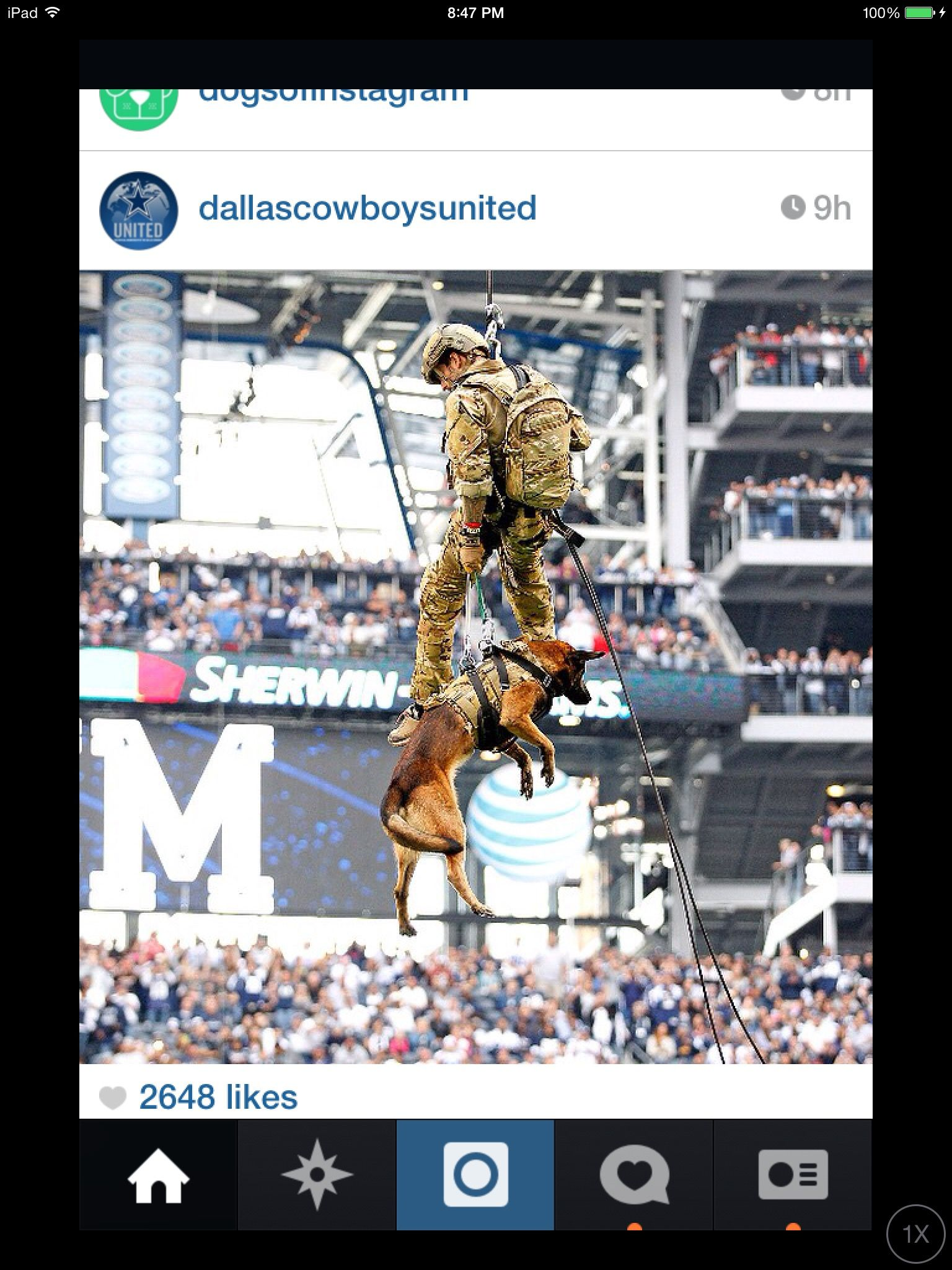 timeless design 5533c feb8b The Dallas Cowboys salute to the troops. Navy Seals rapelled ...