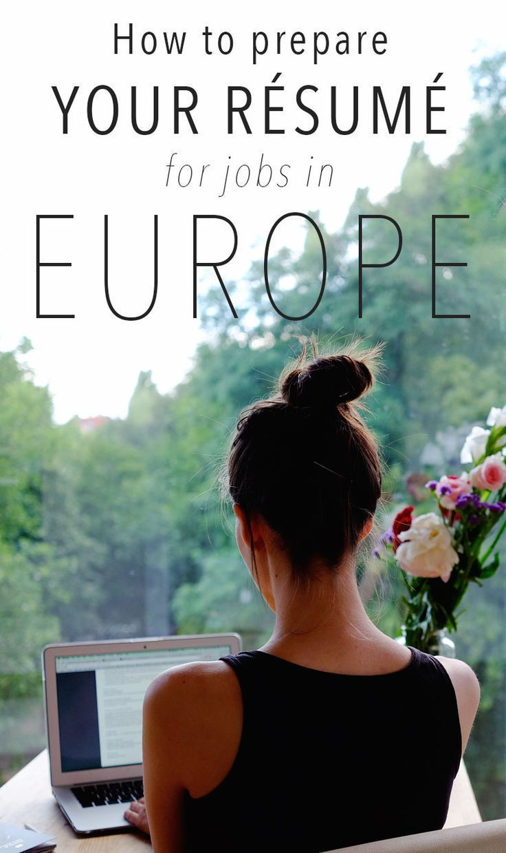How to prepare a Europeanstyle resume in 2020
