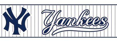 New York Yankees Pinstripe Wallpaper Border Baseball