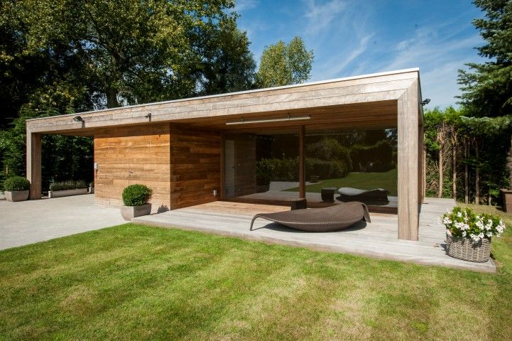 Relaxruimte in hout tuin in 2018 pinterest tuin tuinhuis en