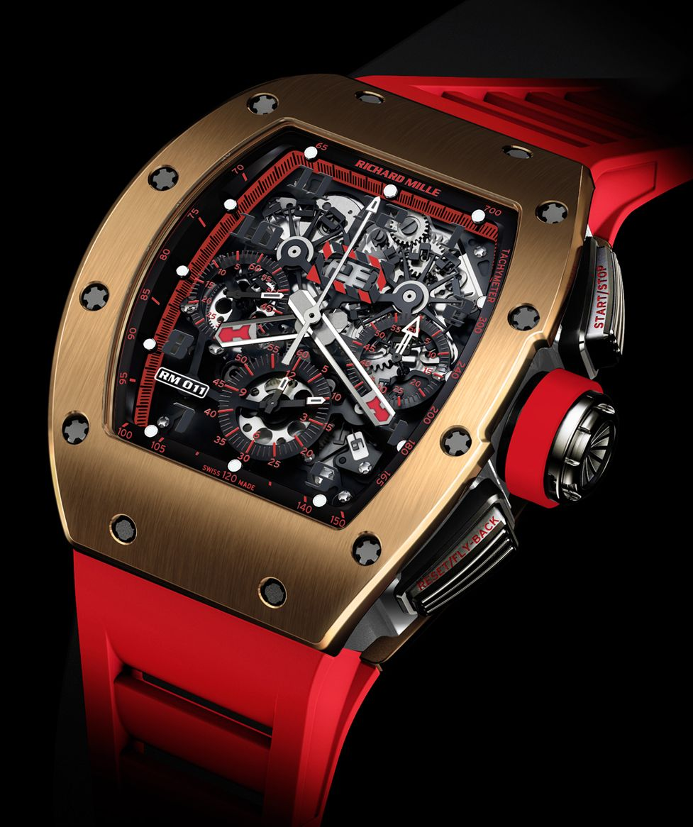 60baaf15b6b TimeZone   Industry News » N E W M o d e l - Richard Mille RM 011 Red Demon  Flyback Chronograph