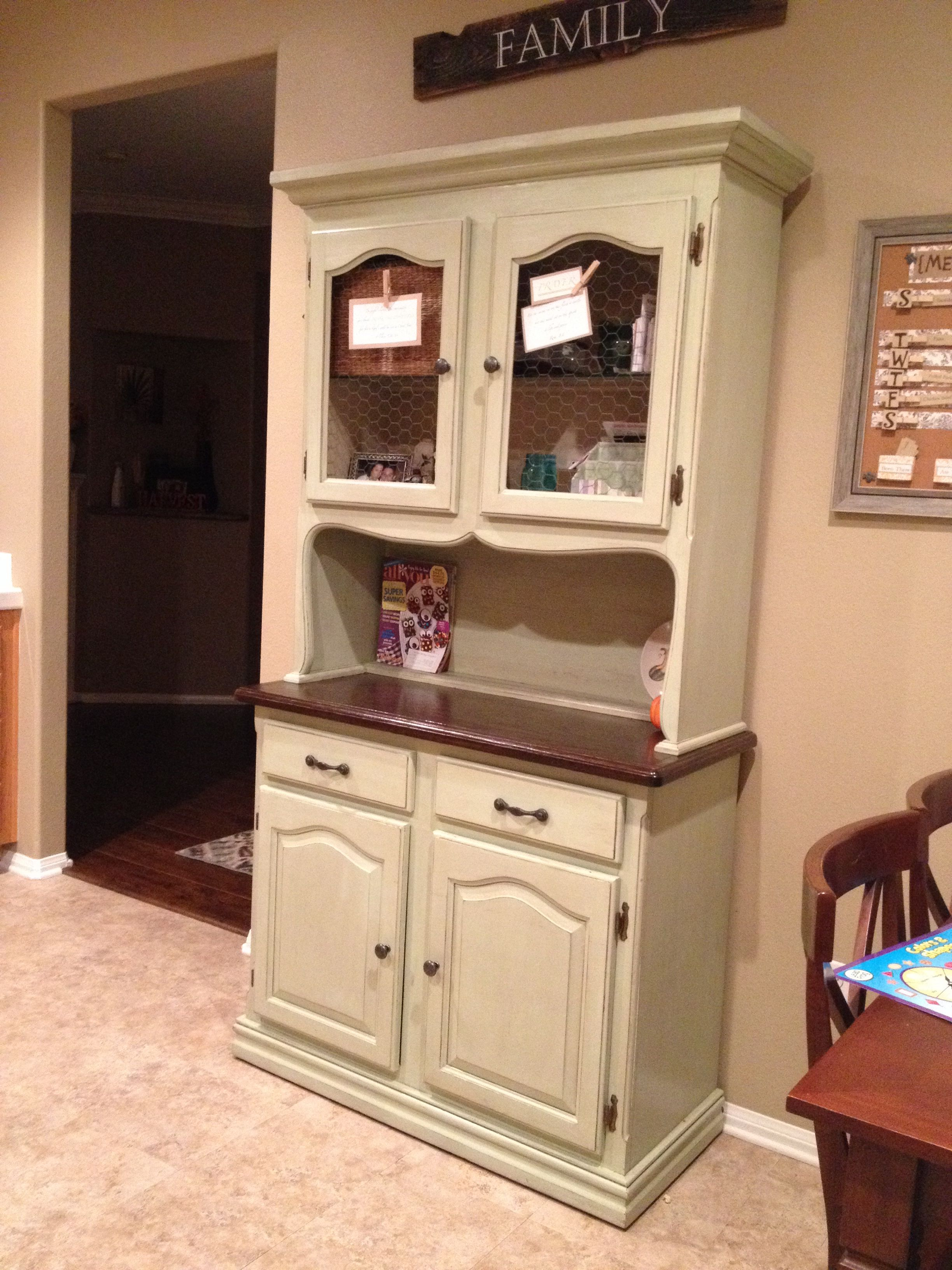 marvelous Kitchen Hutch Diy Part - 7: DIY Kitchen hutch makeover